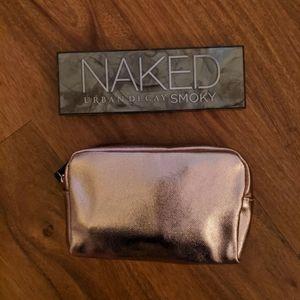 Metallic Pink Makeup Bag